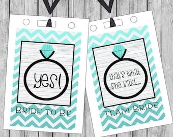 Bachelorette party - Bachelorette party lanyard card - DIY Printable File