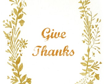 Give Thanks. Printed illustration