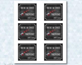 Bird Valentine's Card *Customizable* Digital Download