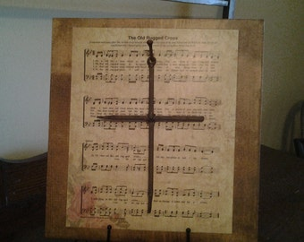 The Old Rugged Cross Wood Plaque Sign
