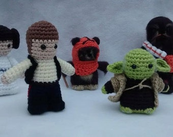 Collection of amigurumi inspired by Star Wars - also for sale separately