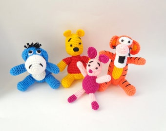 Winnie The Pooh And Friends Amigurumi : Popular items for crochet pooh on Etsy