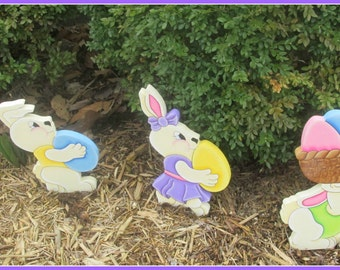Marching Easter Yard Bunnies.