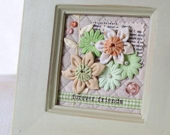 Framed 3D Flower Quilt