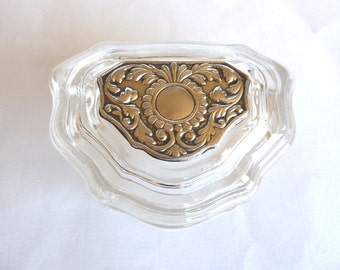 Vintage, Italian Glass and Silver Box