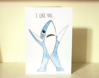 Customizable Left Shark Card