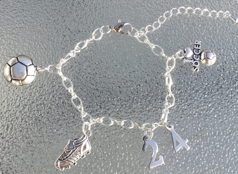 personalized soccer charm bracelet soccer coach gift soccer