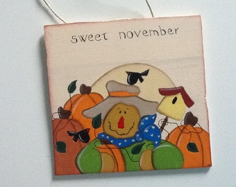 Nameplate country painting Sweet November