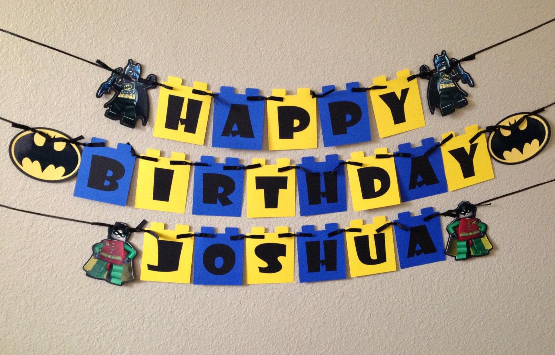 Lego Batman Batman birthday banner Lego Banner Lego Batman