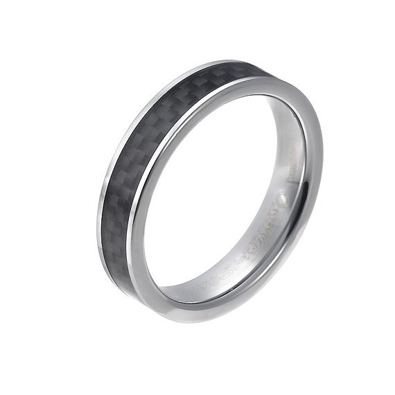 Mens Tungsten Carbide Mens Wedding Band Ring 5mm By BravermanOren