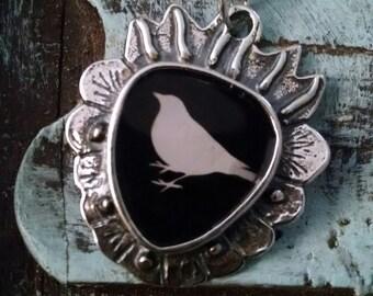 Little Bird Scared Heart Pendant