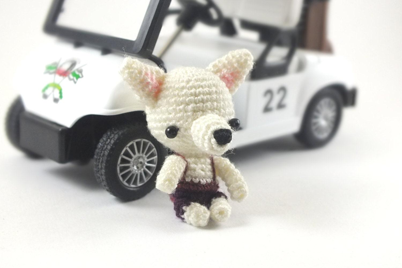 Amigurumi Mini Dolls : Miniature White Chihuahua Amigurumi Crochet Doll by ...
