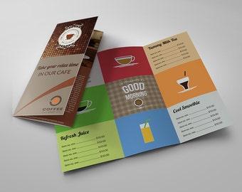 Cafe Tri-Fold Brochure Template