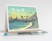 DAD greeting card - Father's Day, Yaquina Head Lighthouse, Newport, Oregon, Pacific Northwest, West Coast, Upper Left Coast, ocean, sea