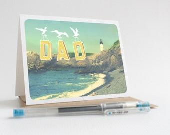 Dad / Yaquina Head Lighthouse - Greeting Card