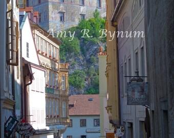 Ancient Morning. Český Krumlov Castle, Czech Republic. Fine Art Travel Photography, Canvas or Paper Print