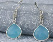 Blue Chalcedony - Ready to Ship - Sterling Silver - LUXE - Earrings