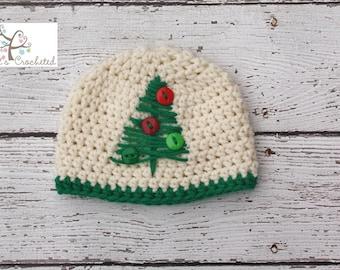 Christmas Tree Hat, Newborn photography prop, newborn boy, Toddler hat, Adult hat