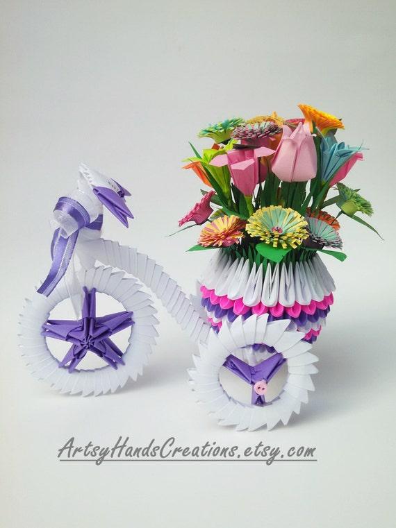 3d Origami Tricycle Tricycle De Origami 3d Avec Pot Pot De