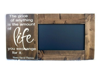 Framed Chalkboard Large Rustic Wood Inspirational Gift Wall Decor (#1299-CB)