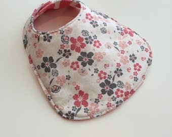 Reversible Baby Bib for Baby Girl