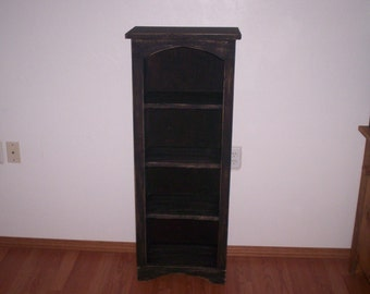 Large Chimney Bookcase, Tall Wood Cabinet