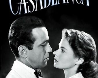 Casablanca Vintage Movie Poster Box Framed Music Canvas ...