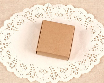 6.7*6.4*2.8CM Kraft paper box for jewelry Brown kraft gift boxes Wholesale kraft boxes 100 pieces