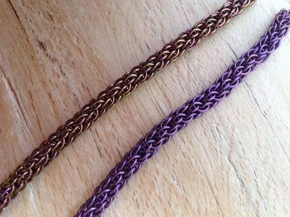 Candy cane bracelet - anodized niobium