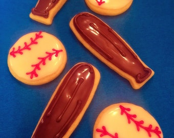 Baseball Theme Sugar Cookies