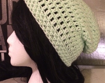 Mint Green Slouched Beanie