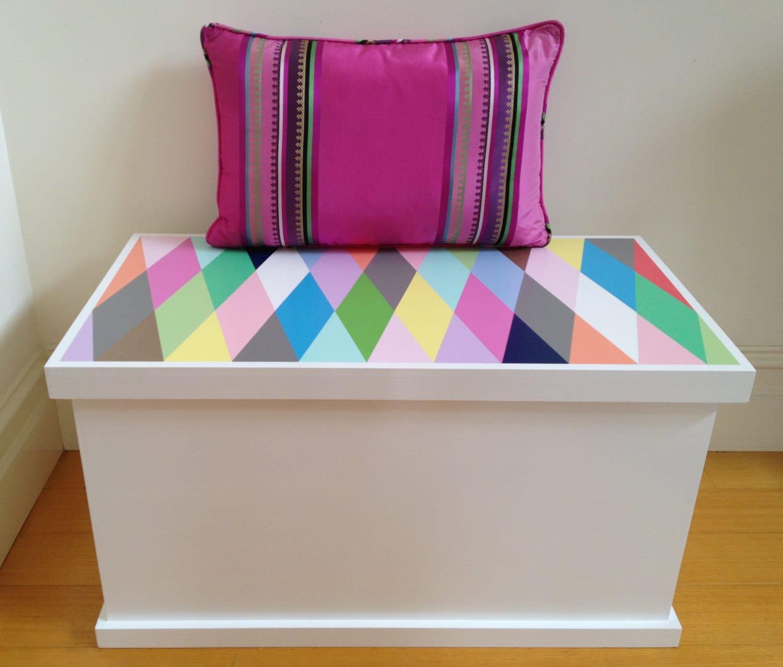 toy box harlequin design toy storage toy chest toybox - 🔎zoom