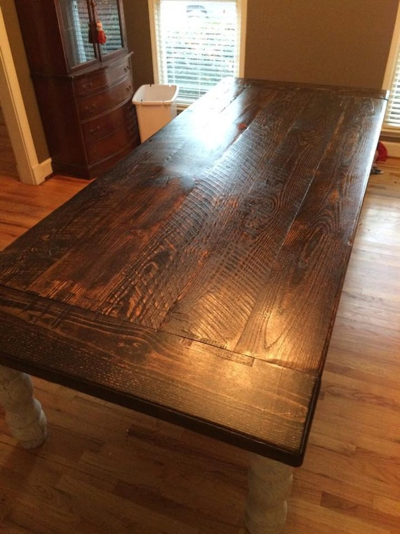 10 foot rustic farm table by wellsworksfurniture on etsy for 10 foot farmhouse table plans