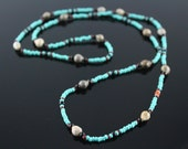Cherokee Corn Bead Necklace - Turquoise
