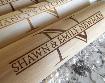 Personalized Rolling Pin - Modern Design