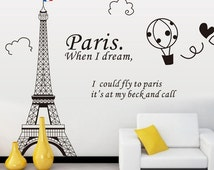 Paris Eiffel Tower Wall Decal Wall Sticker Wall decor Vinyl Stickers DIY Wallpaper Wall Art Wall