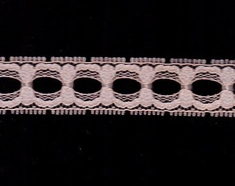 Light Pink Beading Lace Trim 12 yards Sewing Embellishment 3/4""