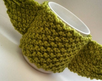 Hand knitted star wars yoda cup cosy
