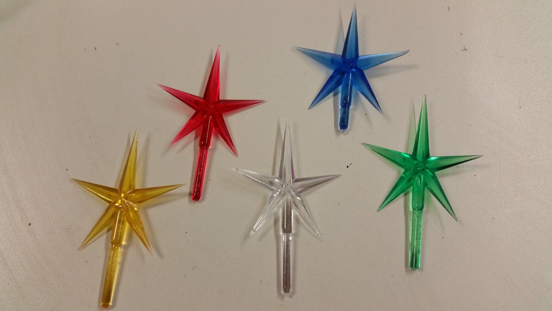 Ceramic Christmas Tree Star 1 Piece Plastic Star For