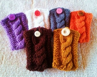 GIFT CARD-IGAN Gift Card Credit Card Money Holder Handmade Cable Knit - You choose the Color