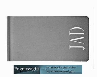 Monogrammed, Money Clip, Personalized, Engraved, Monogram, Custom Monogram Engraved
