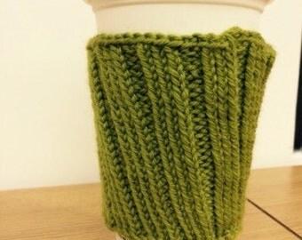 Green coffee cozy