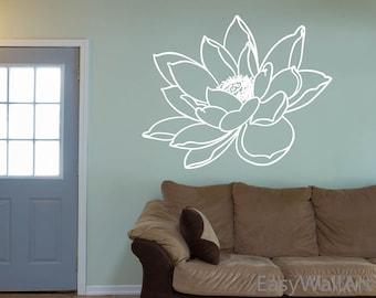 Lotus Flower Wall Art lotus wall art | etsy