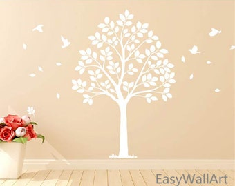 White Tree Decal Etsy