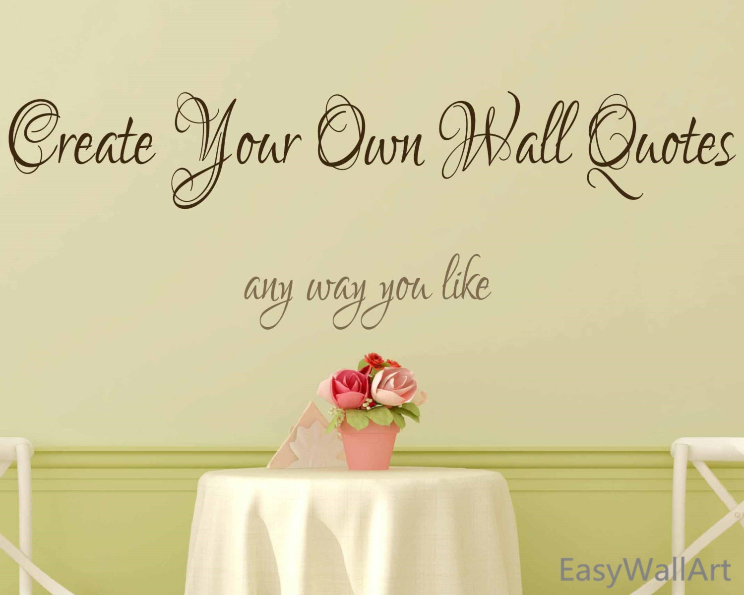 Make Your Own Wall Decal Diy : Create Your Own Wall Decal   Custom Wall  Decals