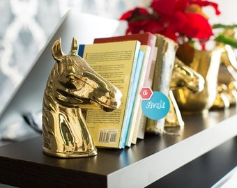 Horse head book ends.