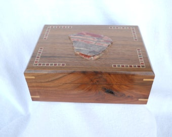 stone inlay keepsake box