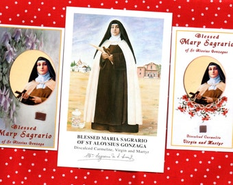 BLESSED MARIA SAGRARIO Spanish Civil War Carmelite Nun Martyr and Apothacary. Martyred 15 August 1936 in Madrid for the Catholic Faith