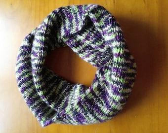 Soft twisted infinity scarf
