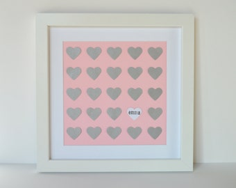 Baby Girl Nursery Design- New Baby Gift, Nursery Decor, Framed Nursery Art, Customized Baby Name, Personalized Baby Gift, Baby Shower Gift